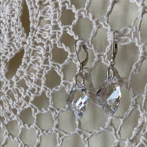 Clear Crystal Earrings w/ Sterling Silver Posts